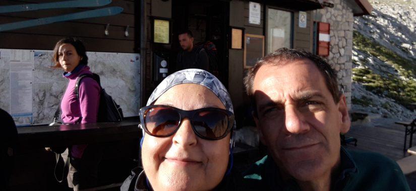 Daniela con il marito Davide